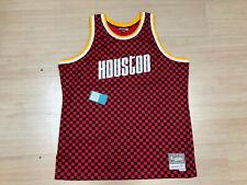 Mitchell & Ness Hardwood Classics Houston Rockets Checkerboard Jersey Red 2Xl