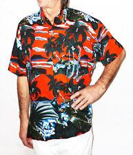 """Loud Camicia Hawaiana, Rosso / auto d'epoca e palme, S, """""""