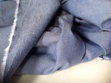 """NEW Ink Blue 100% Cotton Denim Chambray Fabric 58""""154cm Shirt Dress Jeans Eau La"""
