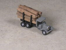 Z Scale 1928 Ford Logging Truck with real wood logs.