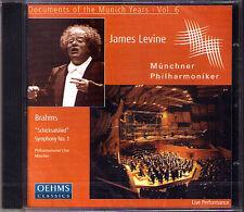 James LEVINE: BRAHMS Symphony No.1 Schicksalslied CD Münchner Philharmoniker