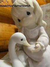Precious Moments ~Blessed Are They With A Caring Heart~163724~Girl with SWAN~LE