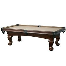 New Lincoln 7' Slate Pool Table with Antique Walnut Finish for Billiards