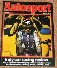 Autosport 15/1/81* WRC & INDY REVIEWS - VAN DIEMEN SUCCESS STORY - ROHRL POSTER