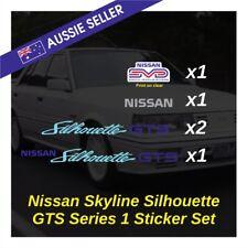 Nissan Skyline GTS1 SVD Sticker Set - R31 RB20 RB20DET Silhouette Pack Decals