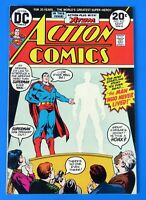 ACTION COMICS #427 COMIC BOOK ~ SUPERMAN ~ 1973 DC BROZE AGE  ~ VF+