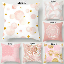 "Pink Pillowcase Throw Pillow Cover Cushion Cover Sofa Home Decor Size 16 18 20"""