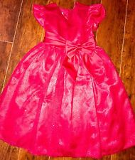 GIRLS Bonnie Jean Holiday DRESS Size 5 Valentines Red Bow