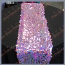 "Table Runners Big Dot Mesh Sequin 3 Pcs. 16"" X 108"" Wedding Decor Lavender"