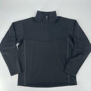 Salomon Jacket Shirt Mens Size Medium Black Textured Quarter Zip Pullover Casual