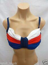 Bleu Rod Beattie Over The Shoulder Bikini Top, Red, 36-38 D