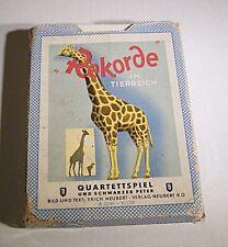 """02129.7 DDR Quartettspiel mit Peterkarte """"Rekorde im Tierreich"""",ab 6 Jahre"""