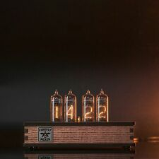 IN-14 Nixie Tube Clock Olive Ash Case Assembled and Tested