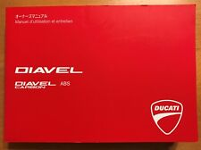 DUCATI DIAVEL OWNERS USE MANUAL OEM # 913.7.179.1F - FRENCH/JAPANESE - GENUINE