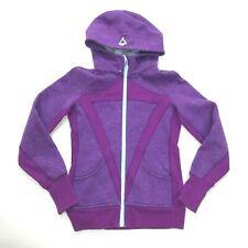 Lululemon Ivivva Remix Scuba Hoodie Jacket Tender Violet Pockets Cotton Girls 14