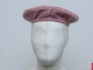 Ruslan Baginskiy Beret, Red, Blue & Cream Wool. NWT. Medium. Hat. Unisex