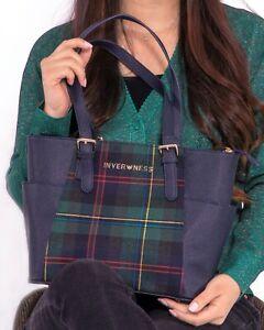 Inverness New Ladies Tartan Check Plaid Medium Shoulder Bag like MK