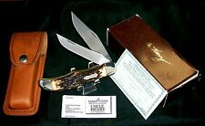 Schrade 227UH Knife & Sheath Uncle Henry 1980's W/Original Packaging, Papers