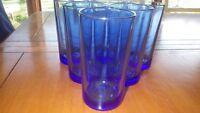 Cobalt Blue Glasses Tumblers Coolers flat bottom glasses 6 9 oz glasses