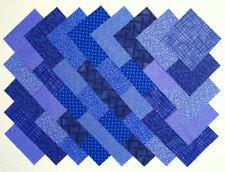 """BLUE PRINTS 4"""" Squares, 100% Cotton Prewashed, Quilt Block Fabric  (#A/6B)"""