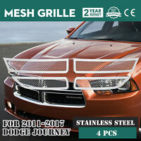 Mesh Grille Fits For 2011-2018 Dodge Journey Wire Mesh Stainless Grille Overlay