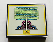 LASALLE QUARTET/SCHOENBERG-BERG-WEBERN String quartets GERMANY 4CD box set (1987