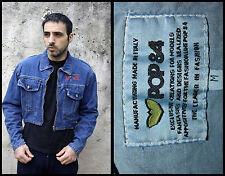 BNWT POP 84  Denim Jacket Trucker Made in Italy 80s Western Jeans Deadstock M