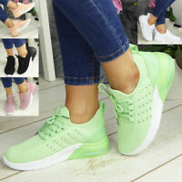 Womens Running Trainers Ladies Jogging Sneakers Lace Up Gym Comfy Fashion Shoes