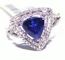 2.74CT 14K Gold Natural Tanzanite Diamond Vintage AAA Antique Engagement Ring