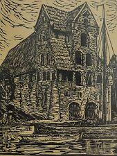 Theodor SCHULTZE-JASMER 1888-1975 Linolschnitt: ALTES SPEICHERHAUS in KÖNIGSBERG
