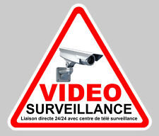 VIDEO SURVEILLANCE CAMERA PROTECTION 100mm AUTOCOLLANT STICKER (VA048)
