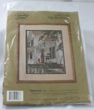 VTG 1990 Something Special Snoozin' Cross Stitch Kit #50536 House Front Porch