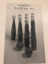 Wooden Bowling Set (NEW)
