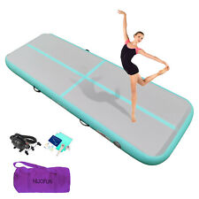 """New listing 13ft 16ft 20ft Inflatable Gymnastics Mat Tumble Track Gym 4"""" Home Training Floor"""