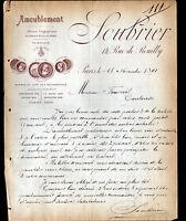 """PARIS (XII°) AMEUBLEMENT """"SOUBRIER"""" en 1891"""