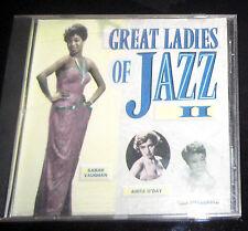 Great Ladies of Jazz II K-Tel Various Artists CD, 1989, K-Tel, Billie Holiday