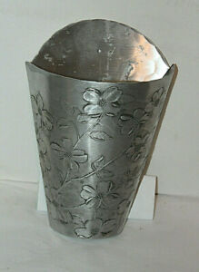 Unique Wendell August Handcrafted Aluminum Wall Flower Vase/ Sconce