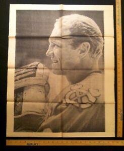 Vintage 1967 Bobby Hull Chicago Black Hawks Poster Very RARE Blackhawks Hockey