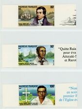 French Polynesia 1988 Protestant Missionaries Imperforate Set Marginal MNH X674