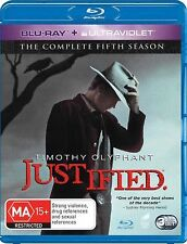 Justified Complete Series 5 Blu Ray All Episode Fifth Season Original UK Rel New