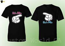 Couple T-Shirt He's Mine She's Mine Cartoon Hands His and Hers Love Matching Tee