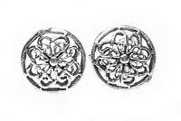Keltische Blume Des Lebens Ohrstecker Silber Gothic Schmuck - NEU