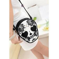 Women Cute Punk Style Skull Head Messenger Shoulder Crossbody Bag Handbag Purse