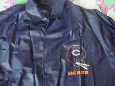 Vintage NFL CHICAGO BEARS helmet logo navy blue Rain Jacket Adult size L