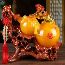 Lucky Fortune Feng Shui Gourd Statue Ornaments Resin Sculpture Crafts Decoration