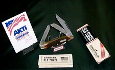"Schrade 89OT Knife Old Timer Blazer Stockman 4"" Circa 1980's W/Packaging,Papers"