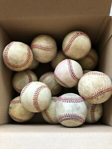 Lot Of  16 Used Rawlings/ Diamond Baseballs & Others- Hard balls