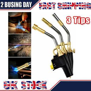 Professional Gas Soldering Plumbing Blow Torch Soldering Mapp Propane 3 TIPS