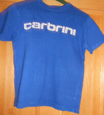 Boys Blue Carbrini T-shirt Age 8-10 Years 100% Cotton Short Sleeved