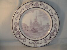 RARE CROWN DUCAL SCENES OF OLD NEW ORLEANS PLATE ST LOUIS CATHEDRAL & CABILOO